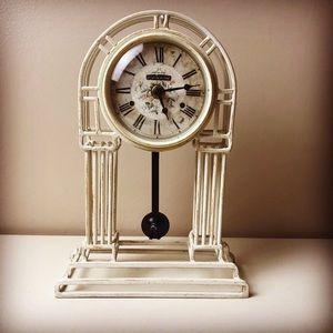 Rare Shabby Chic Howard Miller Tabletop Clock